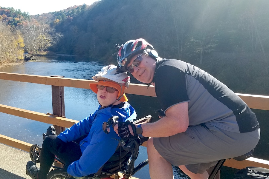 James Maxfield and his father Eric out on the trail together | Photo by Darlene Maxfield