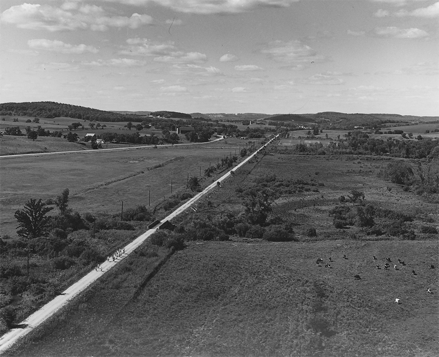 A 1960 photo of Wisconsin's Elroy-Sparta State Trail corridor | Courtesy Wisconsin Department of Natural Resources