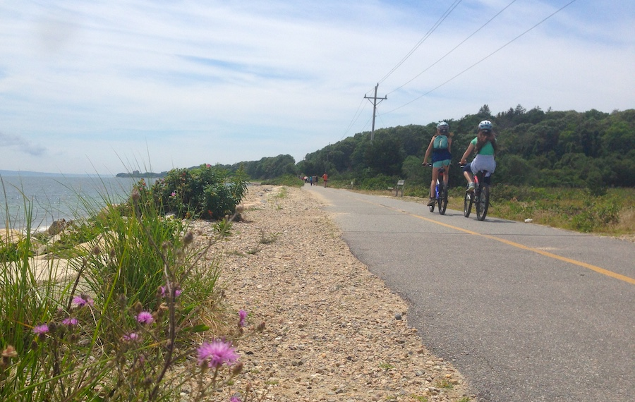 Developed in the 1960s and 1970s, the 10.7-mile Shining Sea Bikeway in Massachusetts is the only bikeway on Cape Cod to feature a seaside section along its route. | Photo by Anya Saretzky