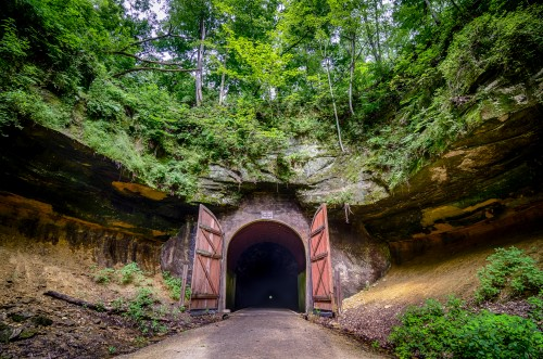 One of the Elroy-Sparta State Trail's famous tunnels | Photo by Eric Reischl Photography