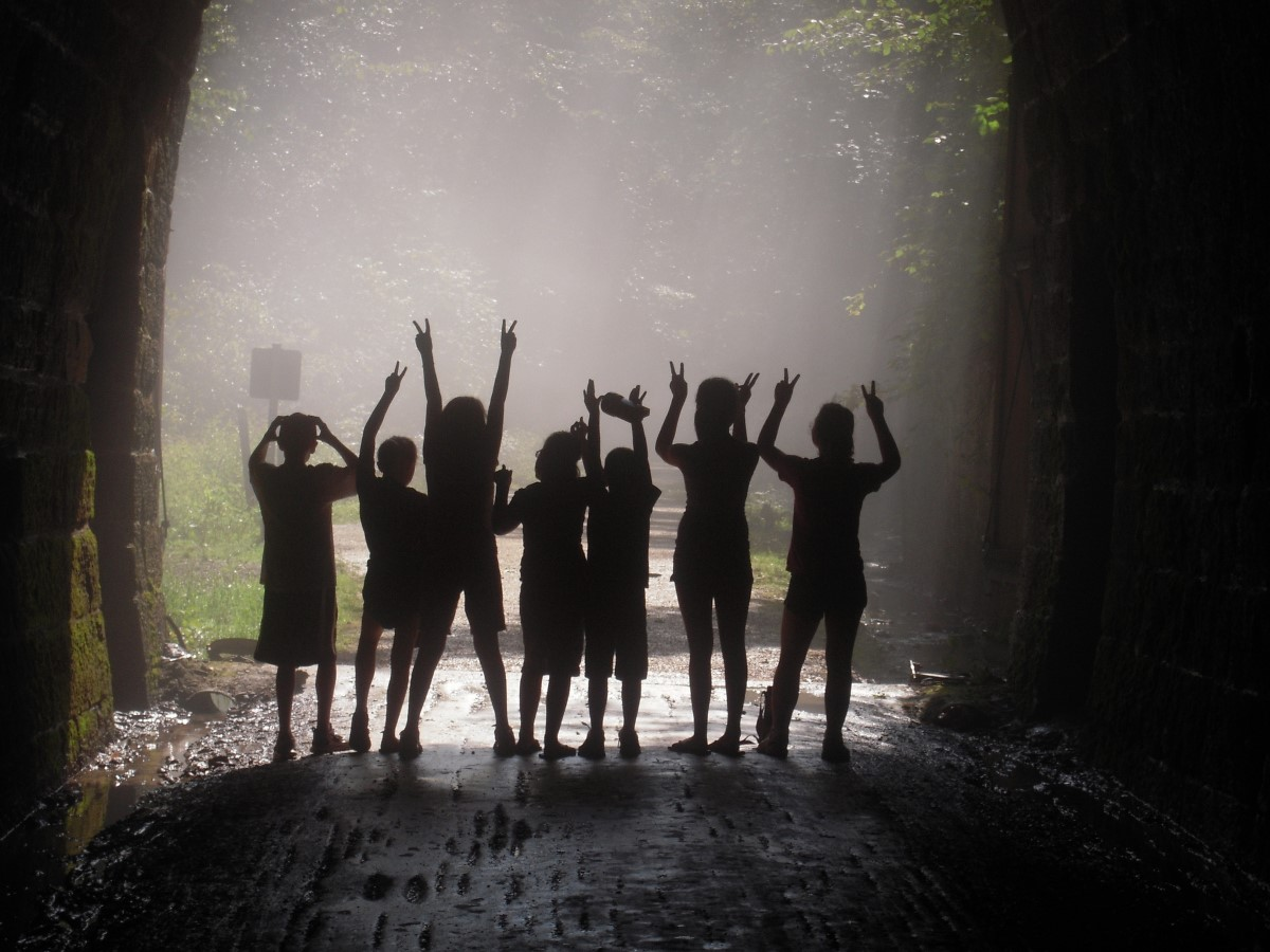 A photo taken several years ago of children along Wisconsin's Elroy-Sparta State Trail, one of the earliest major rail-trail conversions in the United States. | Courtesy Wisconsin Department of Natural Resources