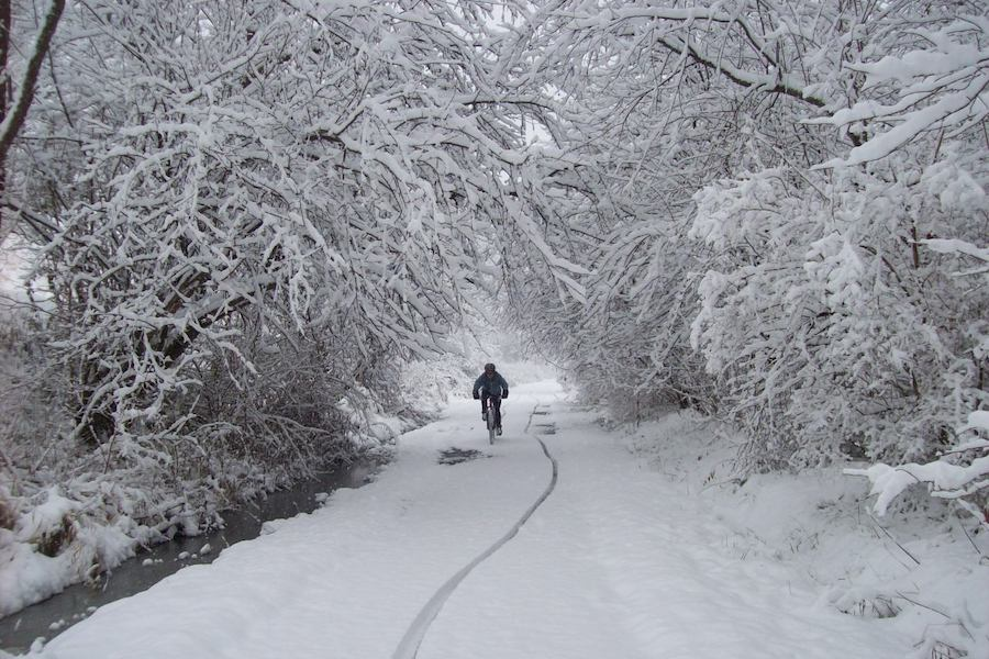 West Virginia's Allegheny Highlands Trail in winter | Photo by Karen Carper, courtesy Highlands Trail Foundation