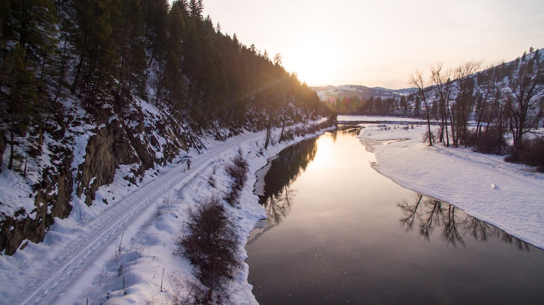 Washington's Ferry County Rail Trail along the Kettle River | Photo by Jesse Harding