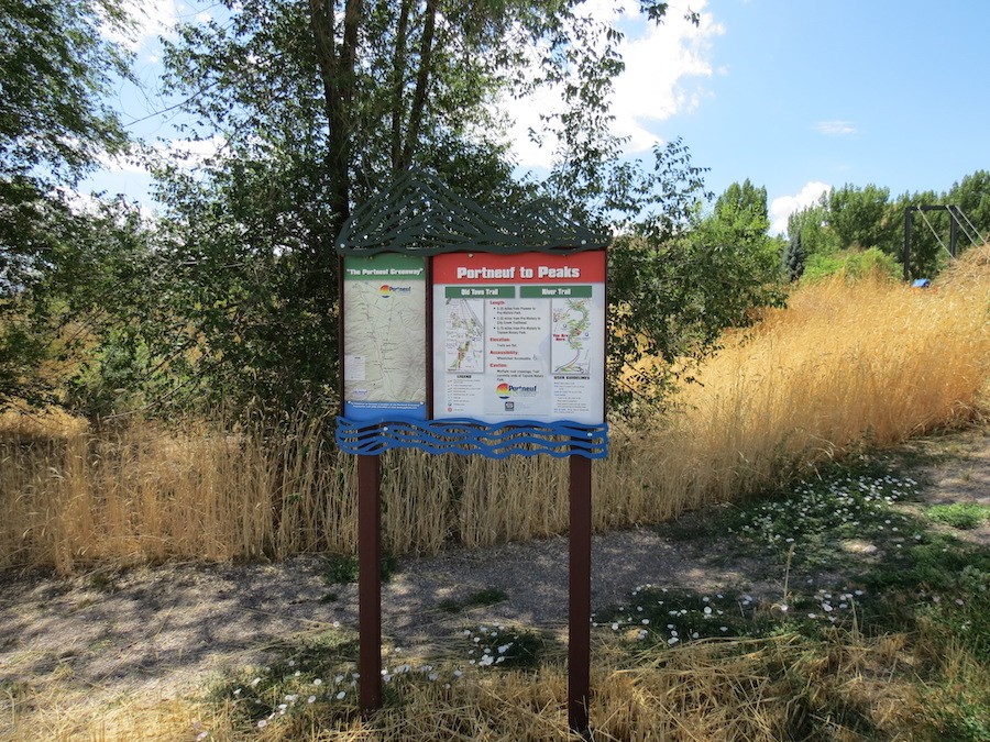 Portneuf Greenway trailhead | Courtesy of the Bannock Transportation Planning Organization