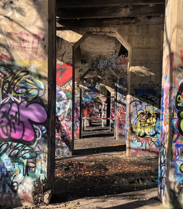 Graffiti Pier in Philadelphia | Phot by Anya Saretzky