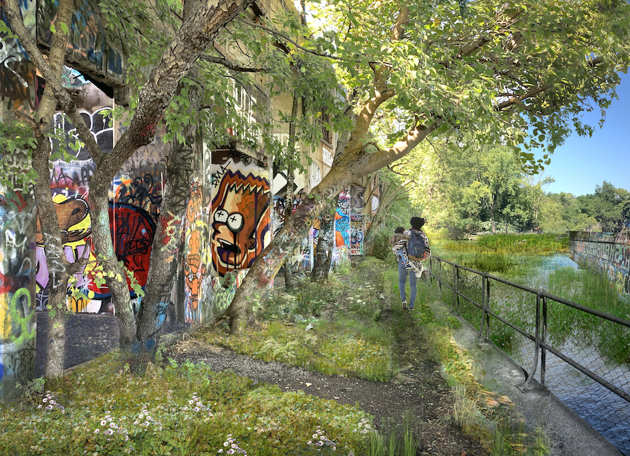 The vision for Graffiti Pier | Courtesy Delaware River Waterfront Corporation
