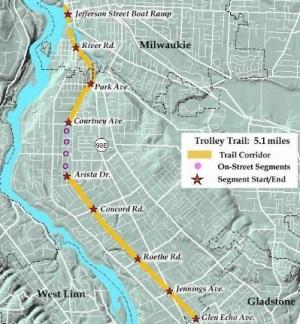 Rails To Trails Oregon Map In Oregon, Historical Trolley Line Reborn as Rail Trail