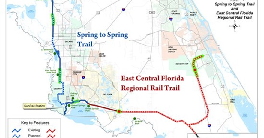 Rails To Trails Florida Map.Join The Maiden Voyage Volusia County To Celebrate Opening Of