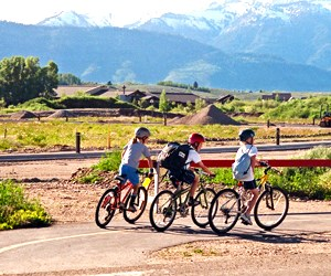 Children enjoying the benefits of active transportation
