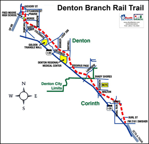 Denton Ohio Map.Rail Trail Sparks Bike Boom In Denton Tex