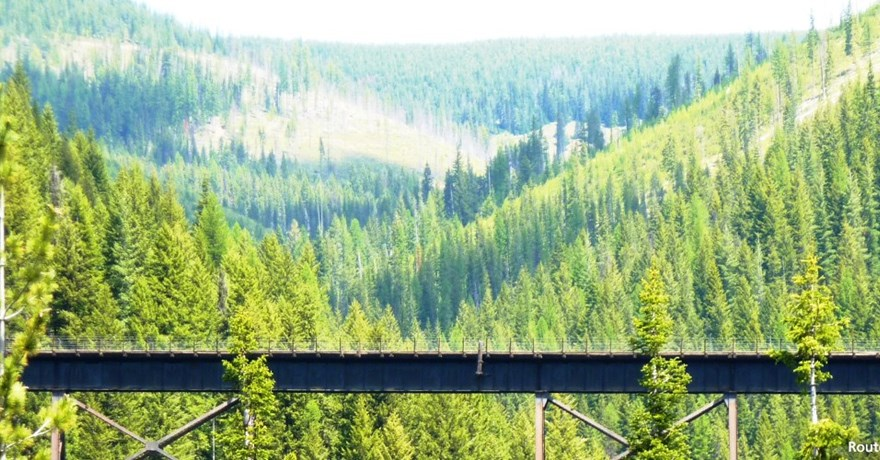 Idaho's Trail of the Coeur d'Alenes and Route of the Hiawatha