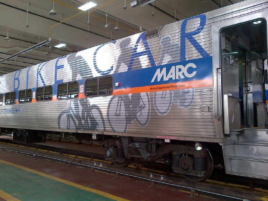 Bike Racks on MARC Trains – Oh Yeah!