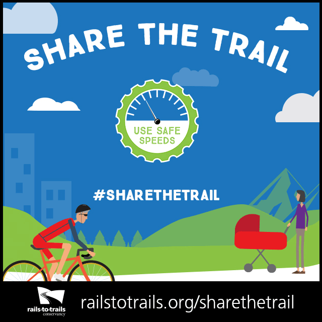 Use Safe Speeds to Share the Trail