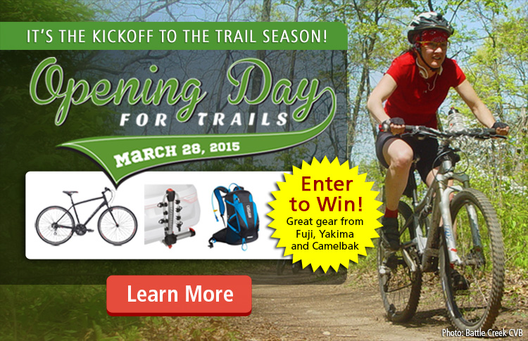 Enter for a chance to Win great gear during the Opeing Day for Trails Sweepstakes!