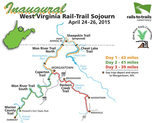 WV Sojourn Map