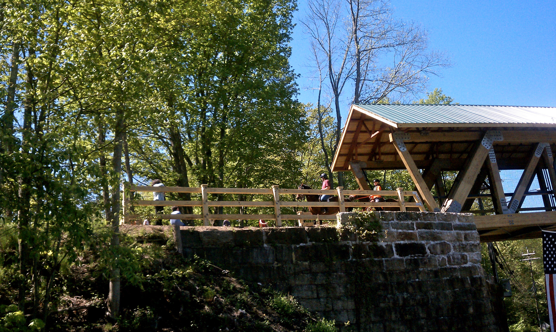 The trail bridge in Andover. | Courtesy Connecticut State Parks Trails & Greenways Program