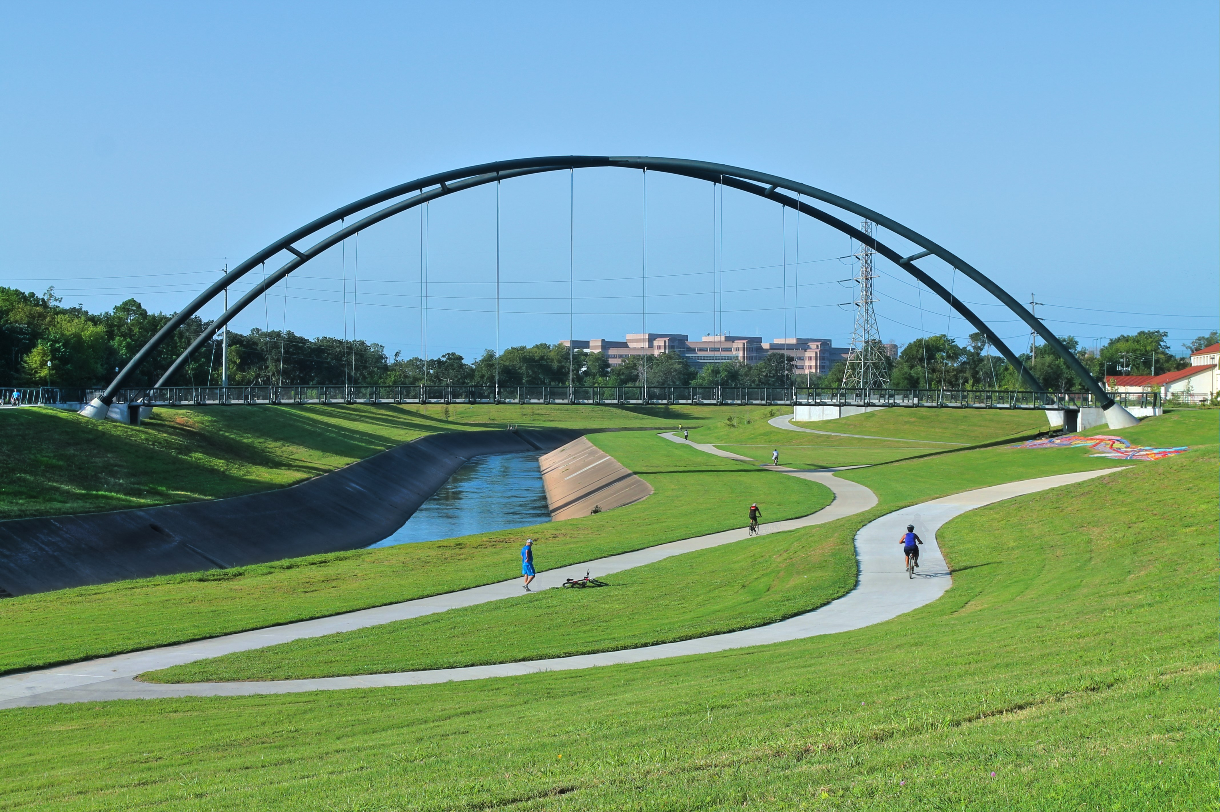 Texas' Brays Bayou Greenway Trail