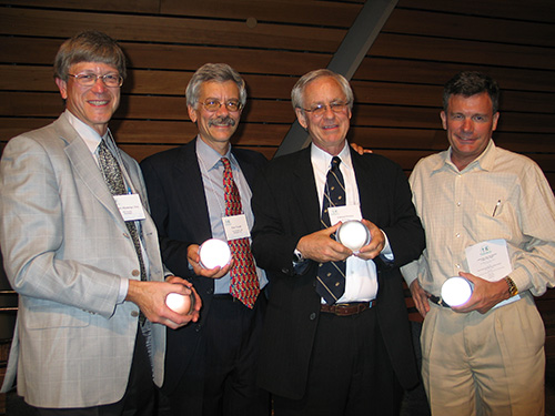 David Burwell and fellow Rail-Trail Champions in 2011 | Photo courtesy Rails-to-Trails ConservancyDavid Burwell (right) and fellow Rail-Trail Champions in 2011 | Photo courtesy Rails-to-Trails Conservancy