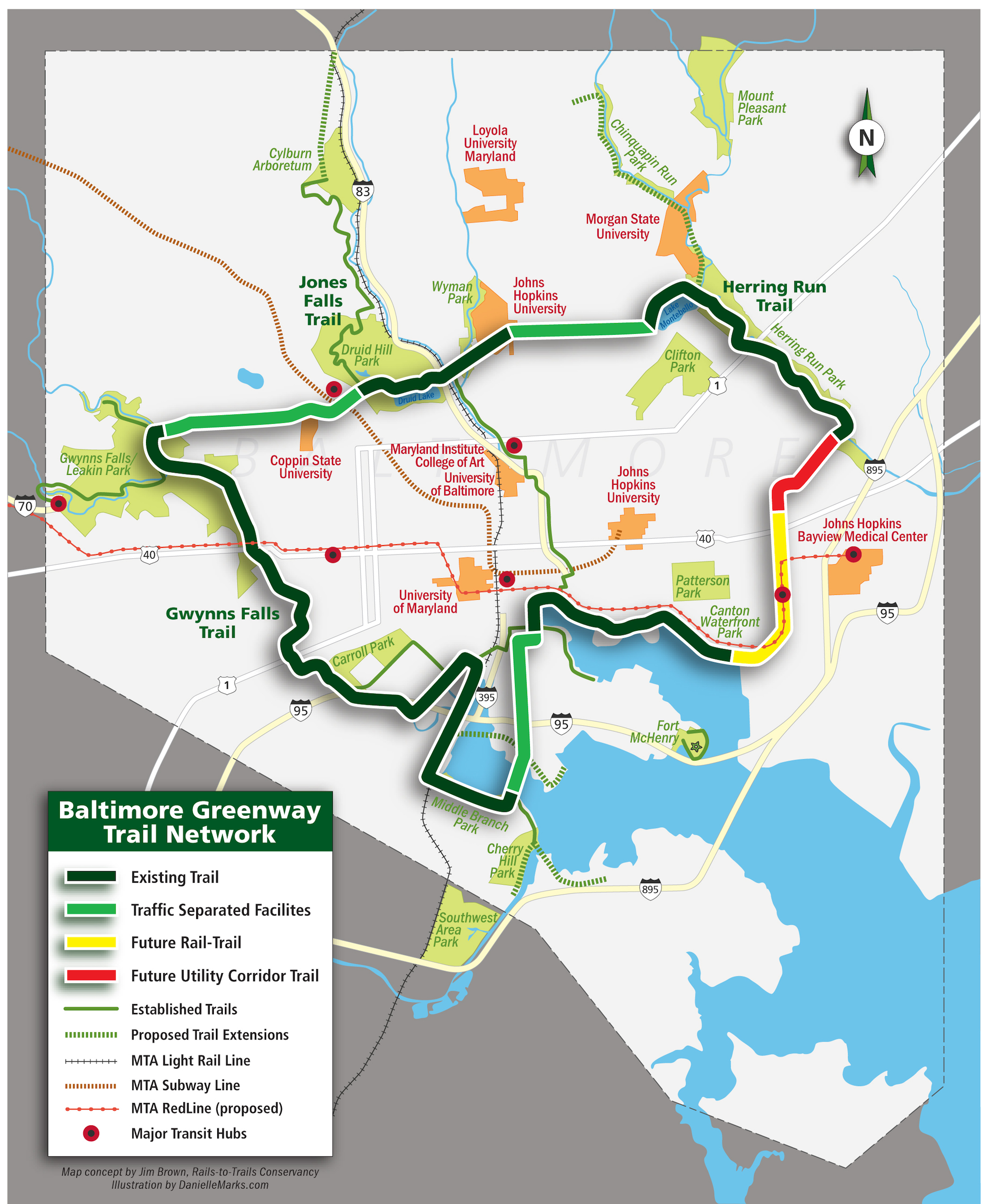Explore the Trail Network Footprint  RailstoTrails Conservancy