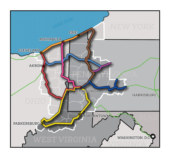 Mega corridors and major trails industrial heartland trails industrial heartland trails coalition map download map publicscrutiny Choice Image