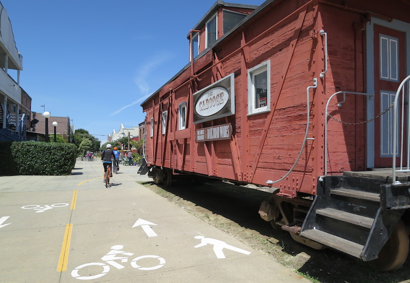 This caboose offers a nod to the trail's rail history | Photo by Barry Bergman, courtesy RTC's Western Regional Office