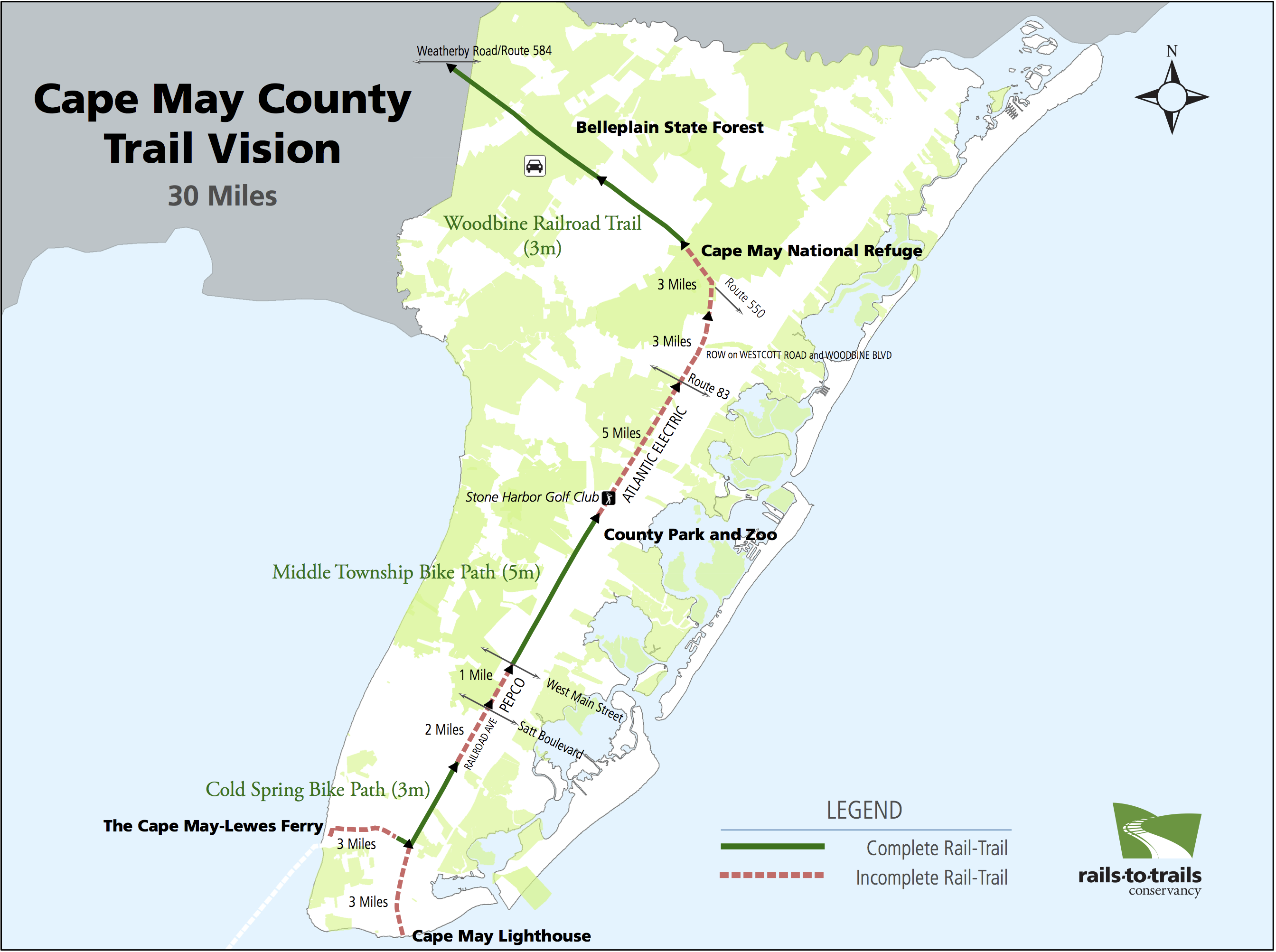 New Jersey's Cape May County Trail Network on