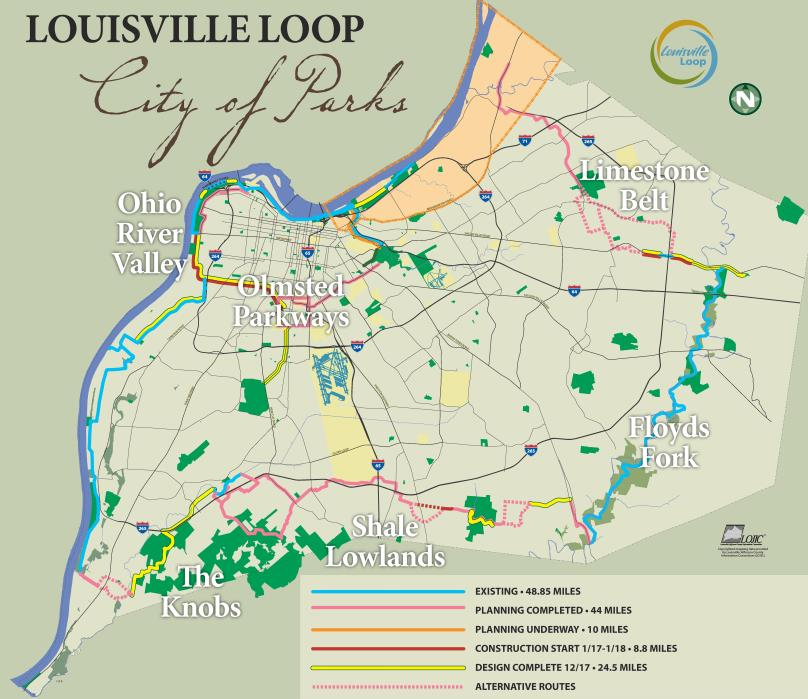 Louisville Loop Map | Courtesy City of Louisville, Kentucky
