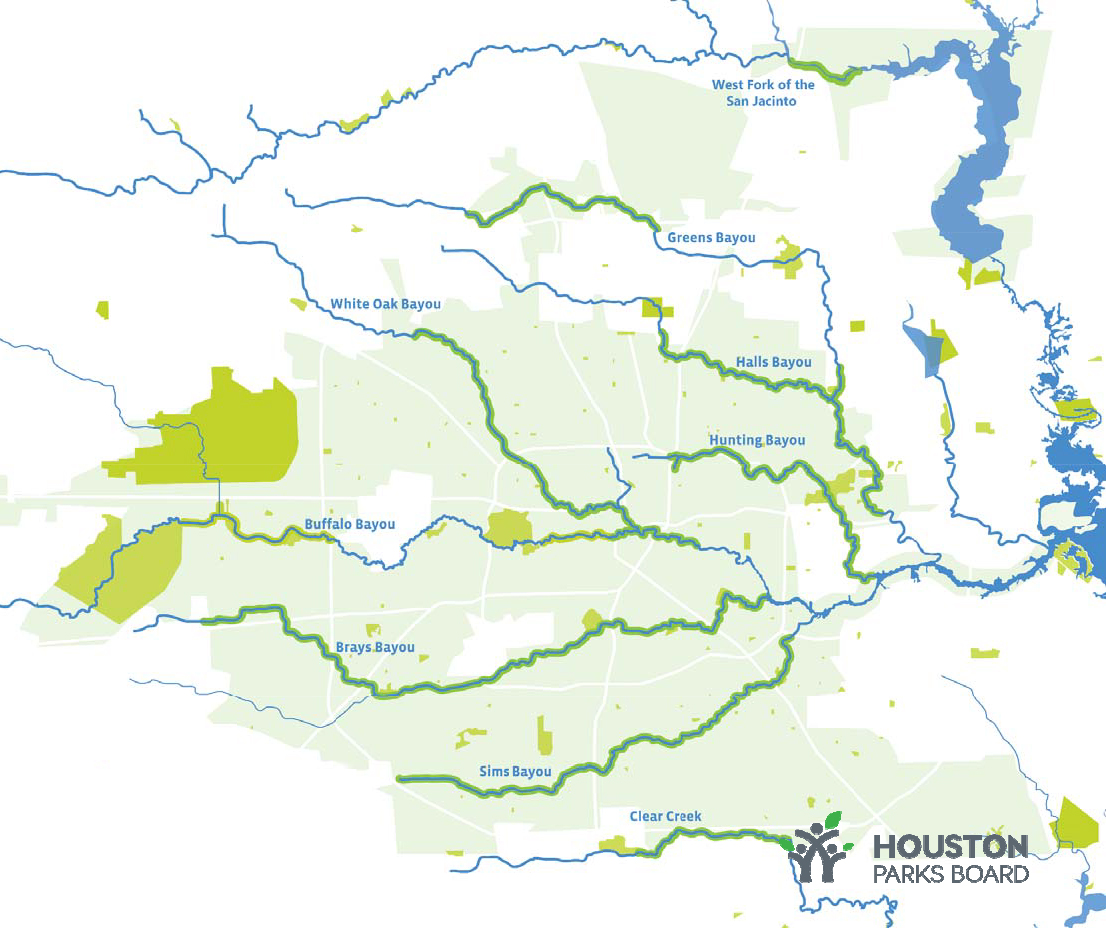 Bayou Greenways 2020 Map