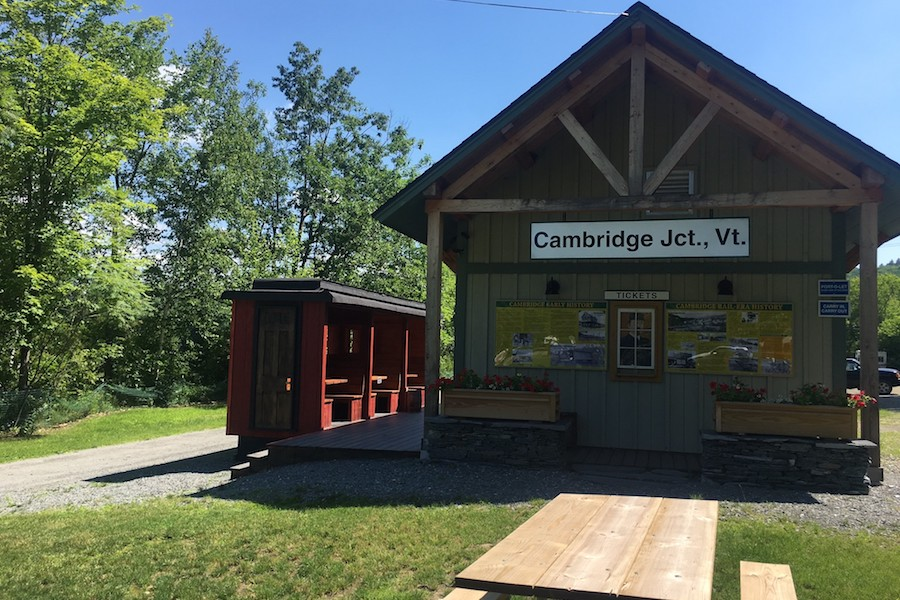 Cambridge Junction on the Lamoille Valley Rail Trail