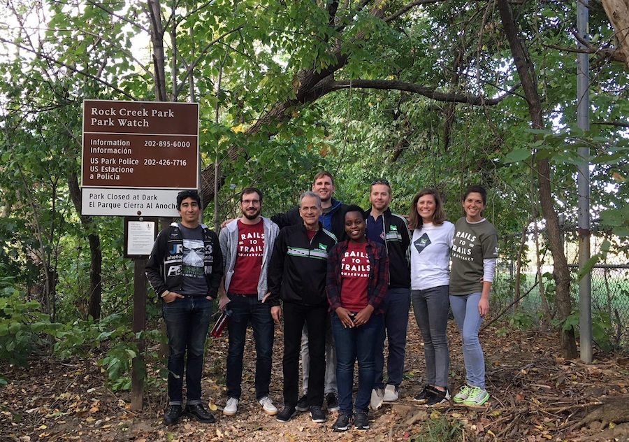 Team RTC cleaning up a section of the Rock Creek Park Trails system with Rock Creek Conservancy in Washington, D.C. for the 2017 Make A Difference Day | Photo courtesy RTC
