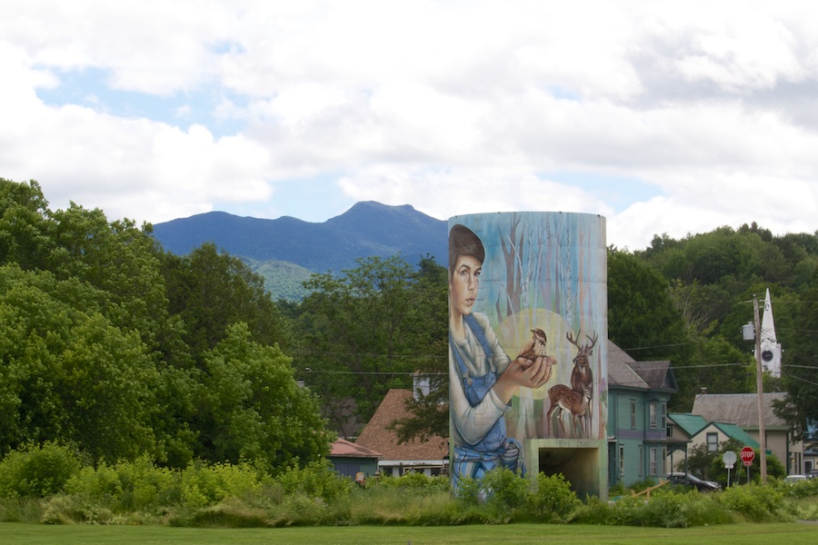 Painted silo on the Cambridge Greenway | Photo courtesy Lamoille County Planning Commission