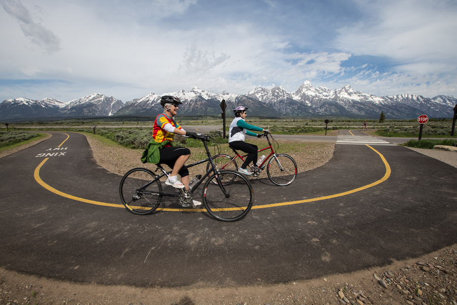 Bicyclists enjoying the pathway in Grand Teton National Park | Photo courtesy National Park Service
