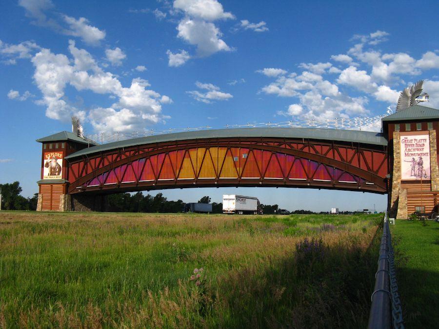Great Platte River Road Archway Monument on Kearney Hike and Bike Trail | Photo by John Schrantz