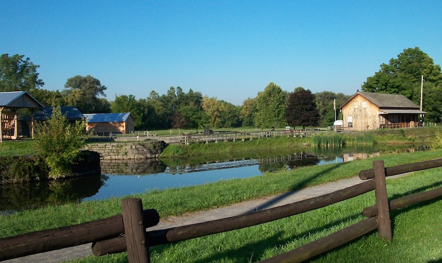 The Chittenango Landing Canal Boat Museum as seen from the Erie Canalway Trail | Photo courtesy Chittenango Landing