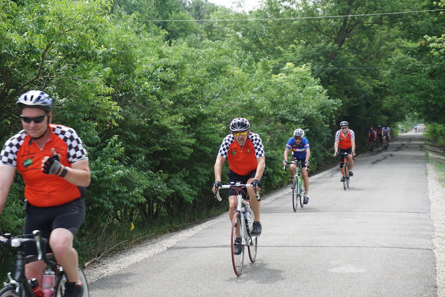 At 61.2 miles, the Cardinal Greenway is a popular route for long-distance bicyclists. | Photo by Robert Annis