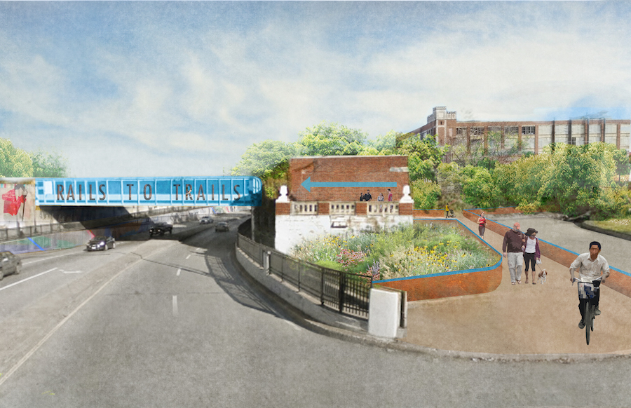 Eastern Avenue in Highlandtown rendering | Courtesy Gabrielle Rashleigh, AIA Baltimore Urban Design Committee