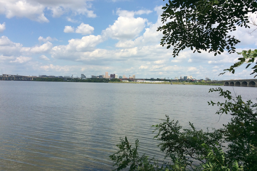 "Baltimore Skyline from Middle Branch Park | Photo courtesy <a href=""https://bit.ly/2NoMKBA""target=""_blank"">Liz DeCoster</a> 