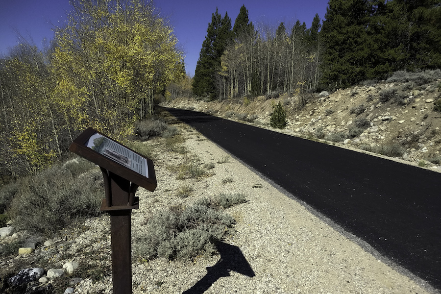 Signage along the Mineral Belt Trail | Photo by Laura Stark, courtesy RTC