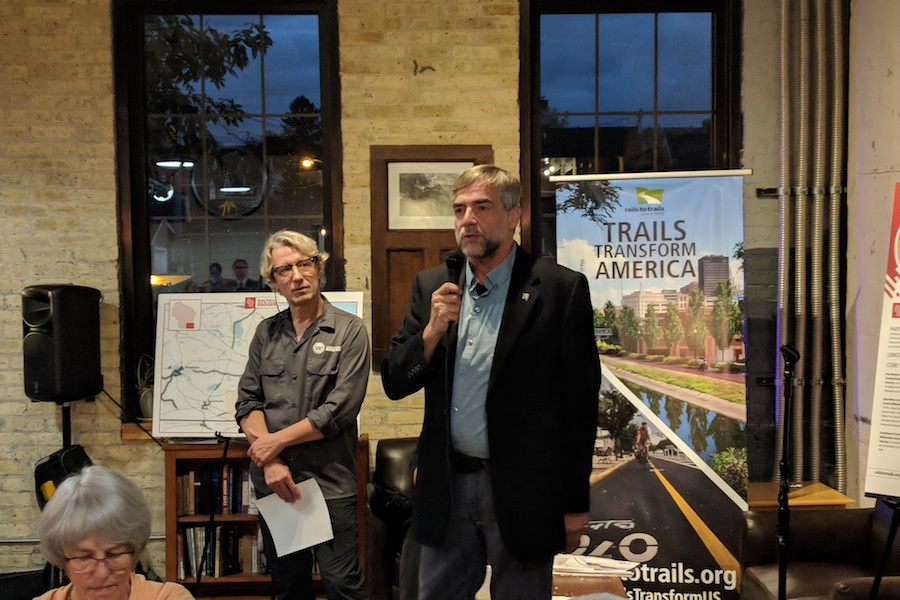 Willie Karidis speaks at Wisconsin Legislative Trails Caucus meeting | Photo by Brian Housh, courtesy RTC
