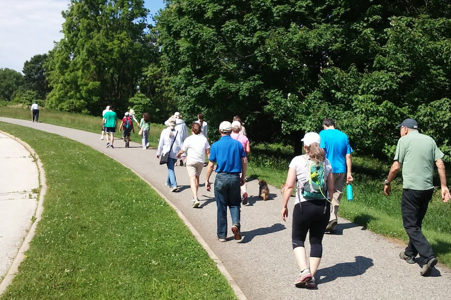 Main Line Health walk on the Joseph Plumb Martin Trail in Valley Forge National Historical Park. | Photo by Roy Perry