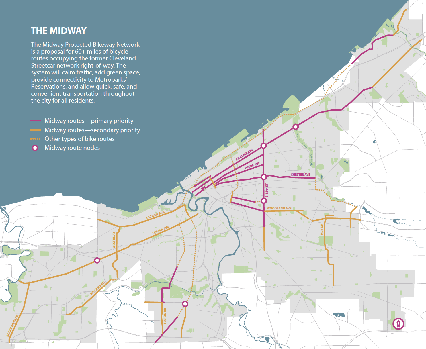 Midway Protected Bikeway Network Map