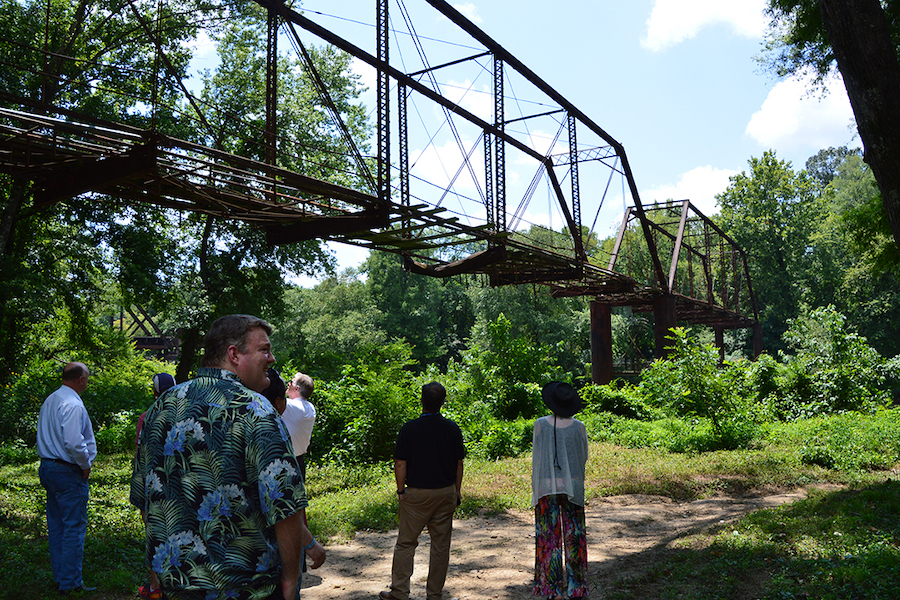 "The steel-truss old river bridge near the town of Benton, featured in the movie ""Sling Blade,"" is being redeveloped into a pedestrian bridge as part of the Southwest Trail. 