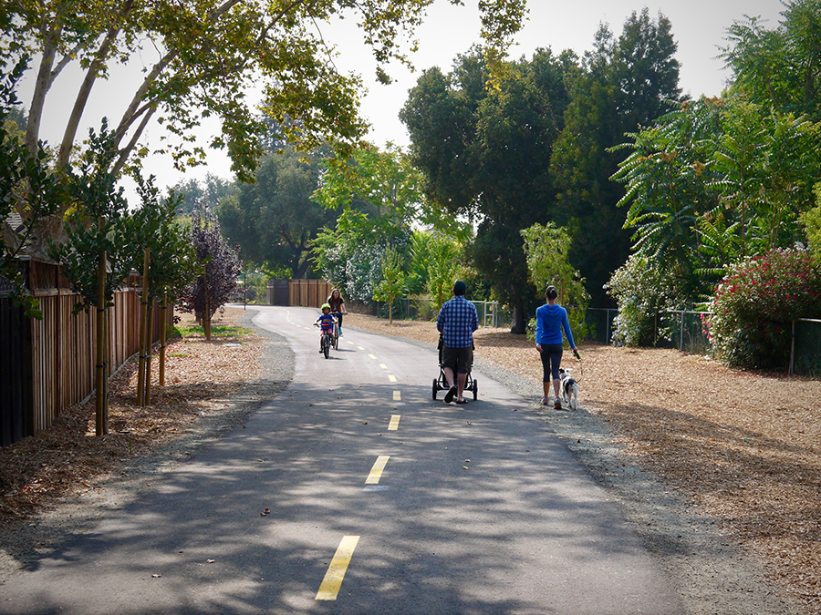 Three Creek Trail in San Jose, California | Photo by Yves Zsutty, courtesy City of San Jose
