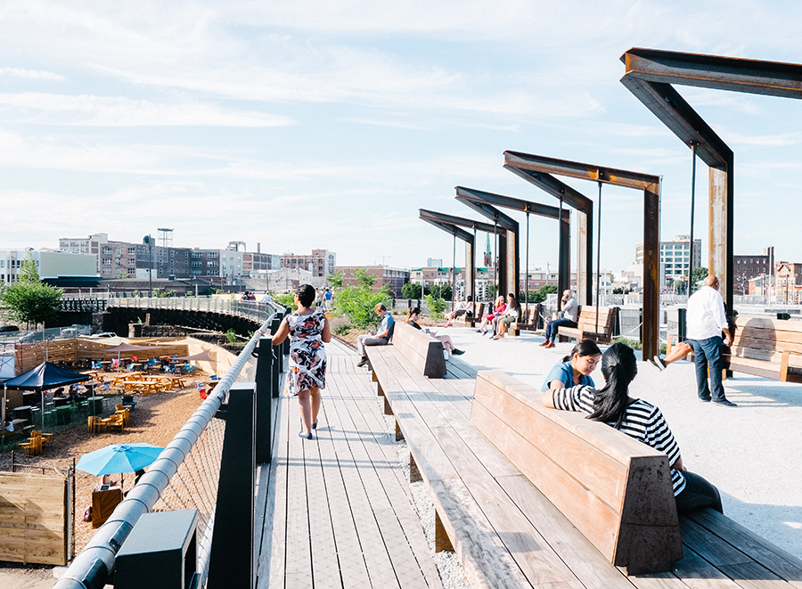 Philadelphia's new elevated Rail Park | Photo courtesy Friends of the Rail Park