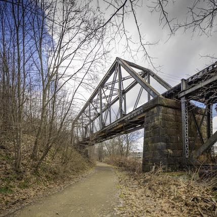 Railroad truss bridge east of Water Street trailhead | Photo by Jeff London
