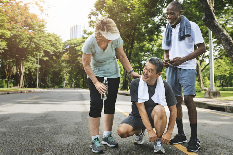 Walking group - Photo courtesy iStock by Getty Images