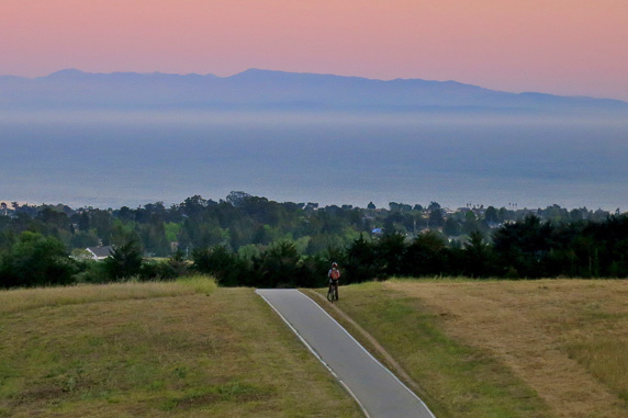"""Sunset, Bike Path at UCSC"" from 2012 UCSC Photo Contest 