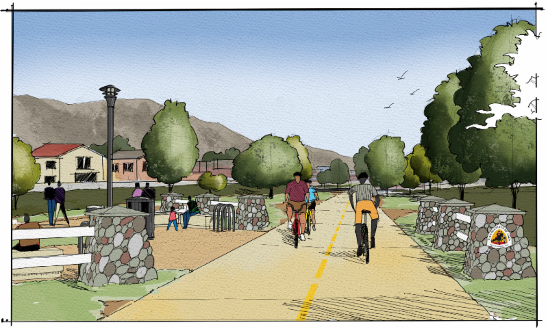 Rendering of the Juan Bautista de Anza National Historic Trail in the City of Moreno Valley | Image courtesy City of Moreno Valley