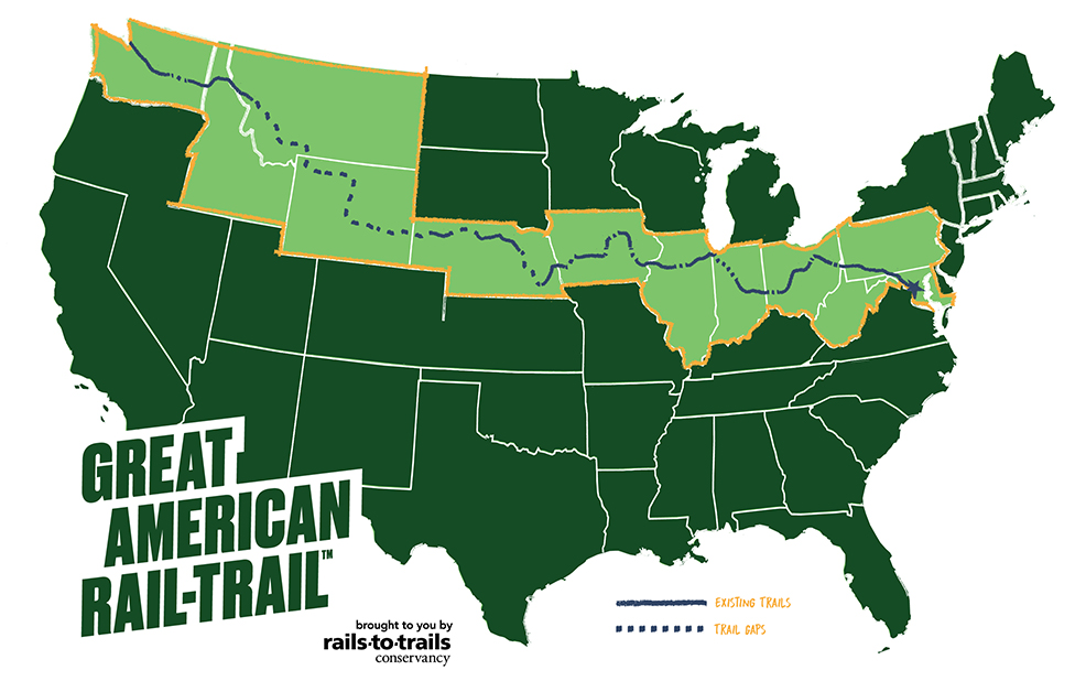 Great American Rail-Trail Map