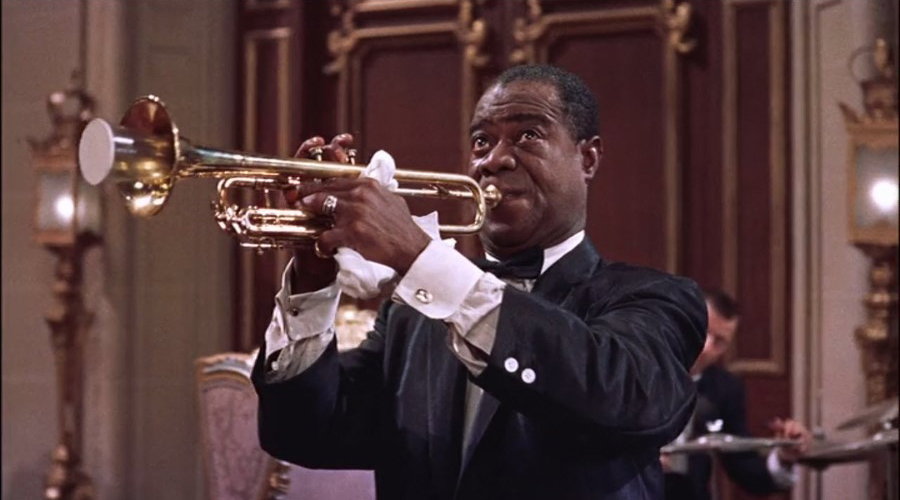 "Louis Armstrong in the 1956 film High Society | Photo courtesy <a href=""https://www.flickr.com/photos/29069717@N02/39917783765/sizes/l"">Classic Film</a> 